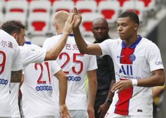 Mbappé lidera la contundente victoria del PSG en Niza