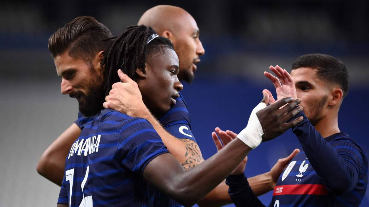 France-thrashes-Ukraine-in-Camavinga's-goalscoring-debut