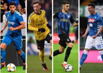 Özil, Milik, Khedira, Romero o Vecino, descartes notables en las listas europeas