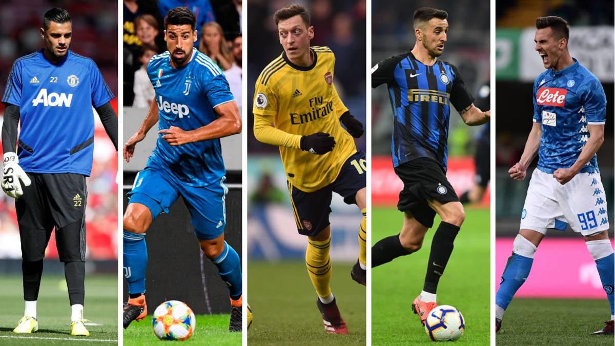 Özil-Milik-Khedira-Romero-or-Vecino-notable-discards-in-the-European-lists
