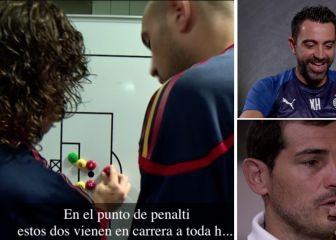 Sale a la luz la escena inédita de Puyol explicando la jugada de su gol a Alemania dos horas antes 1