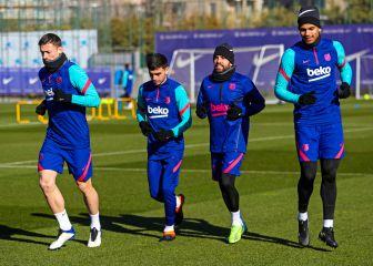 Umtiti regresa y Messi y Dembélé hacen trabajo en el gimnasio