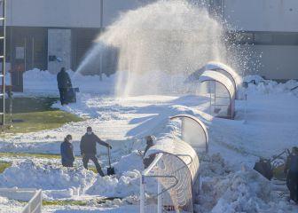 El Rayo-Elche se tuvo que trasladar de nuevo por la nieve