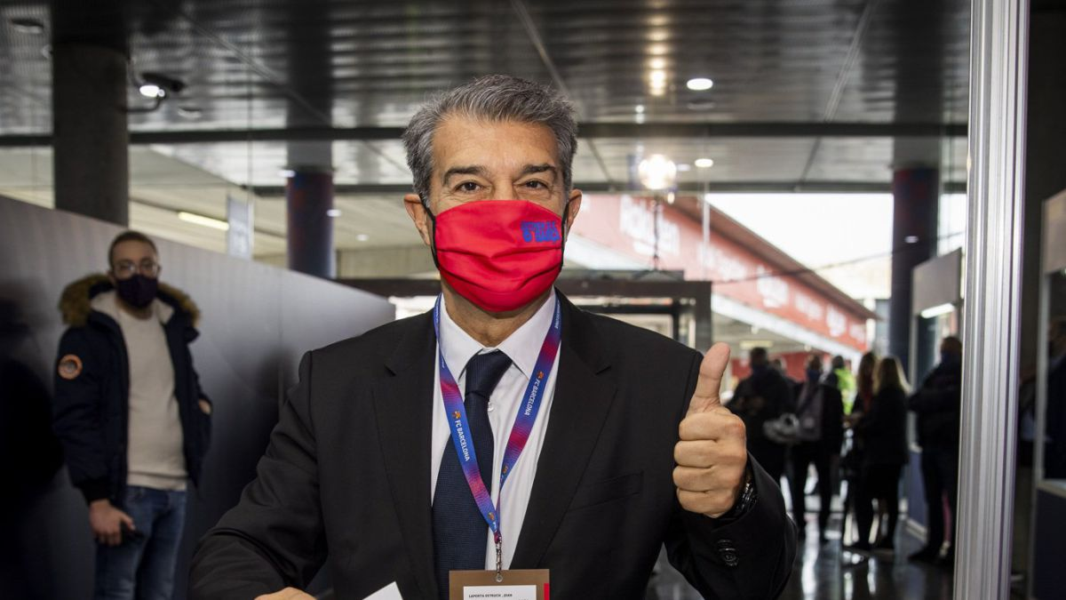 """Laporta:-""""Messi-has-voted-because-he-loves-Barça"""""""