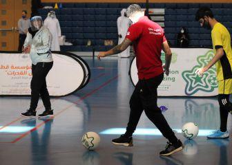Sesiones de formación de fútbol para niños y jóvenes minusválidos 1