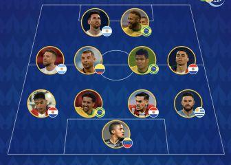 Este es el once de la fase de grupos de la Copa América