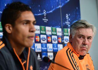 Varane y Ancelotti: cara a cara