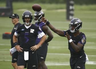 Los Ravens usan a Joe Flacco y Lamar Jackson a la vez