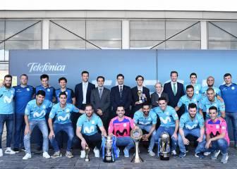 Recibimiento de Telefónica y homenaje al Movistar Inter