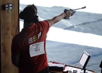 Pablo Carrera no puede revalidar su oro en tiro