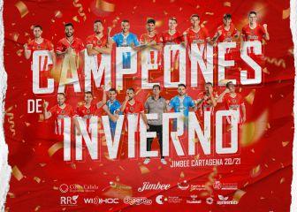 El Jimbee Cartagena, otra vez líder y campeón de invierno