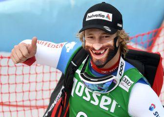 Con mascarilla en la Copa del Mundo de esquí alpino 1
