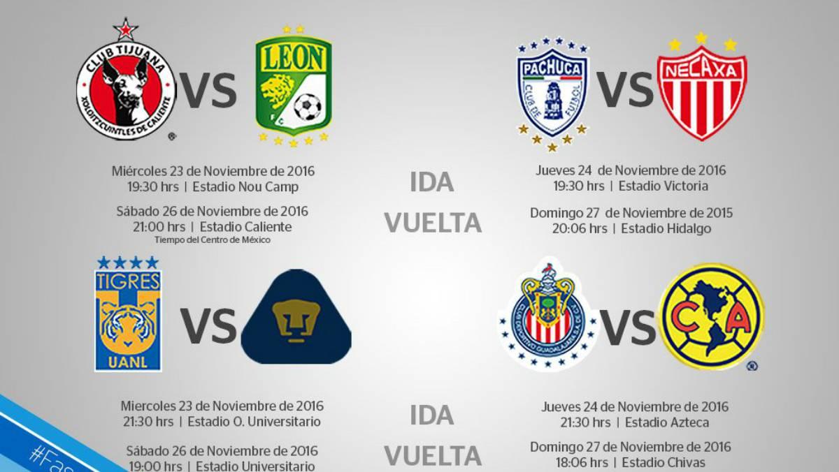 Calendario 2018 Del Futbol Mexicano