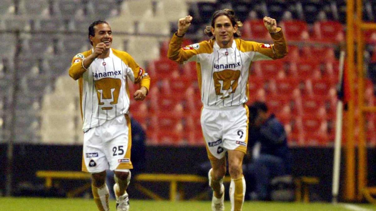 Bruno Marioni en su etapa como jugador de Pumas
