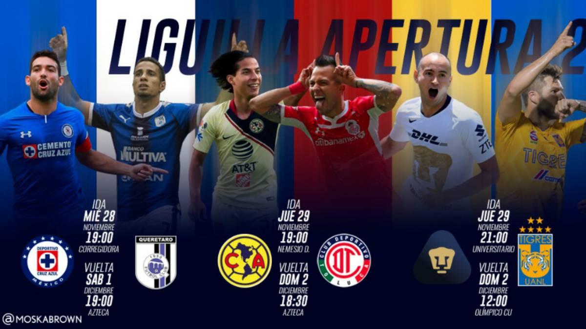 7579e2c7b Fechas y horarios de la Liguilla del Apertura 2018 de la Liga MX ...