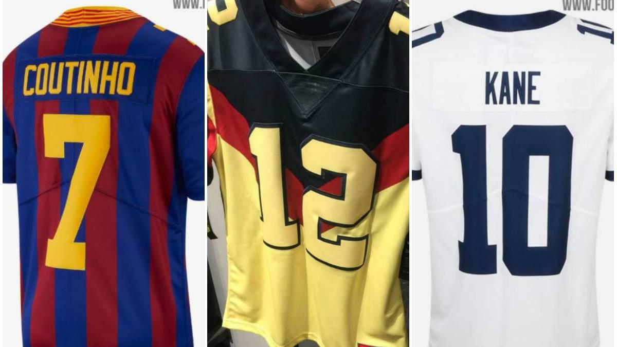 finest selection dd2bf dd406 El jersey de fútbol americano del América, Barcelona y ...