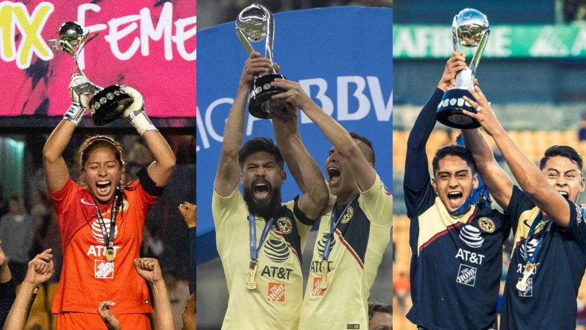 311d3ea614b América logró tres títulos del Fútbol Mexicano en el fin de semana ...