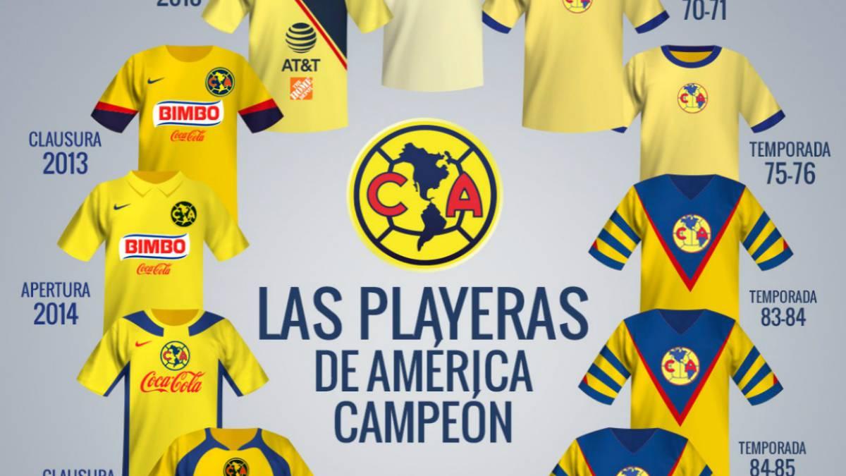 Las playeras con las que América ha sido campeón de Liga MX - AS México dd32a42dbe29d