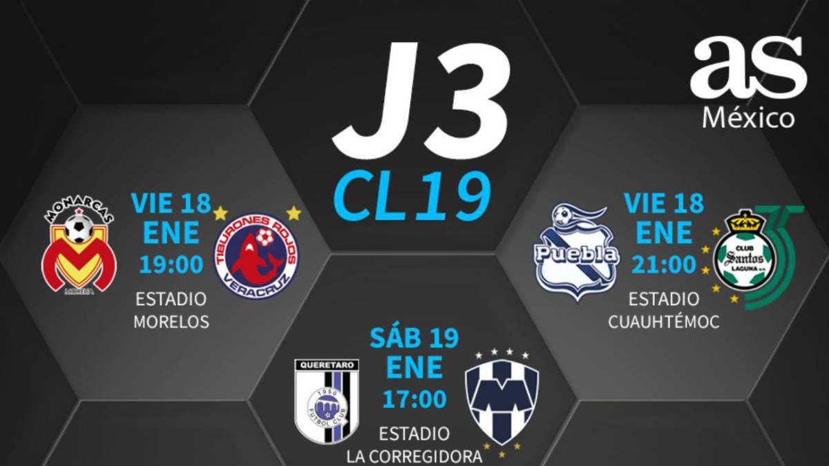 Fechas y horarios de la jornada 3 del Clausura 2019 de la Liga MX ... 7457f52e3f0f6