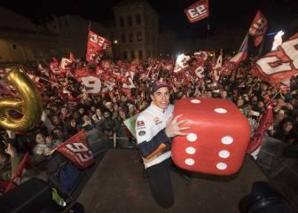 El 'Big Six' de Márquez tomó Cervera en una gran fiesta