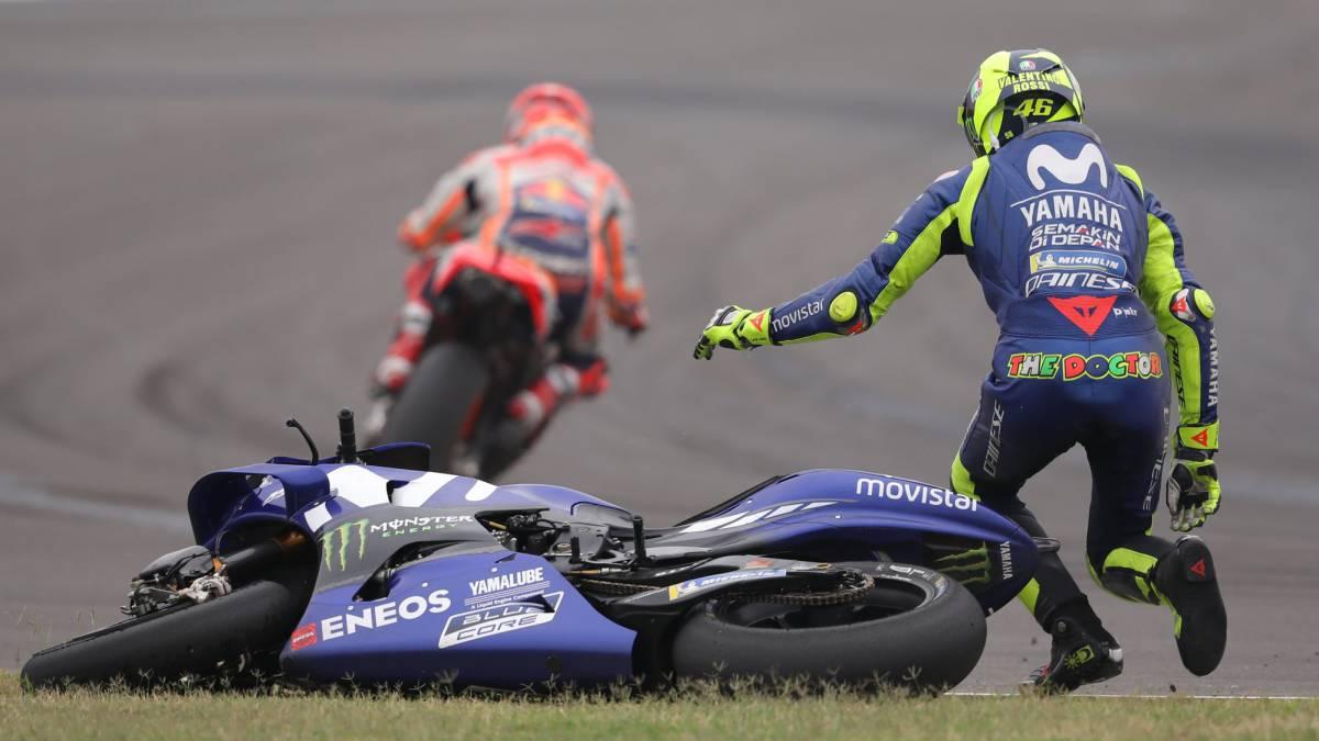 MotoGP : MotoGP se pronuncia sobre el incidente Márquez-Rossi - AS.com