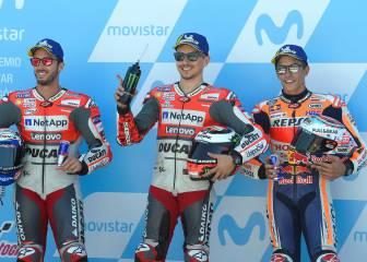 La pole de Lorenzo en el GP de Aragón en imágenes