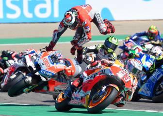 Así fue el accidente de Jorge Lorenzo en el GP de Aragón