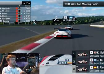 Alonso es una apisonadora en el Gran Turismo: vean cómo abusó saliendo el último en la Play