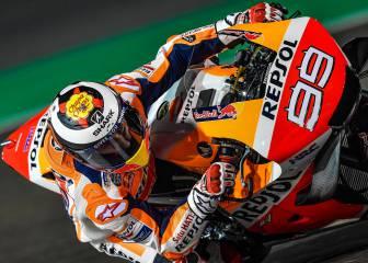 Lorenzo debuta de naranja Repsol lejos de su mejor forma