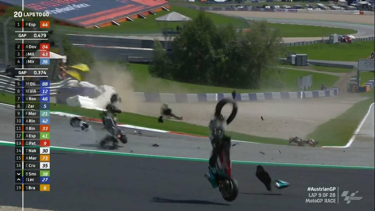 Chilling-accident-in-MotoGP:-Rossi-is-born-again