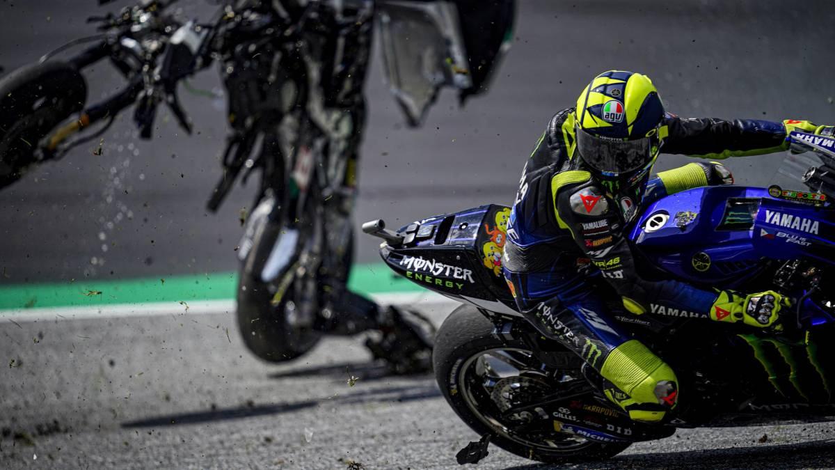 "Rossi-accused-Zarco-of-""voluntarily-braking""-in-front-of-Morbidelli-in-Austria"