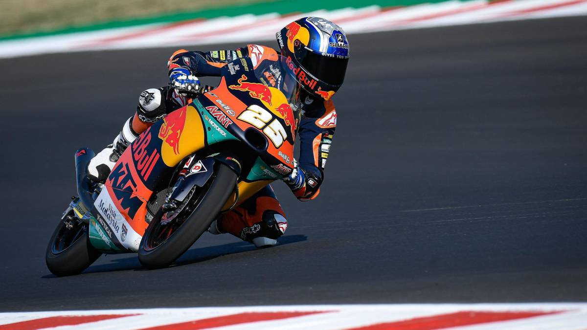 Fernández-points-back-to-the-podium-after-leading-another-Friday