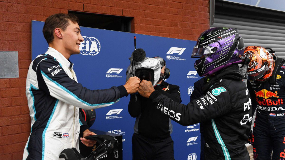 Russell-podium-and-a-Mercedes