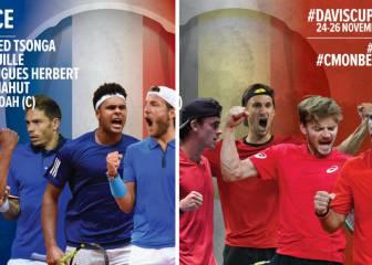 Tsonga y Goffin liderarán a Francia y Bélgica en la gran final