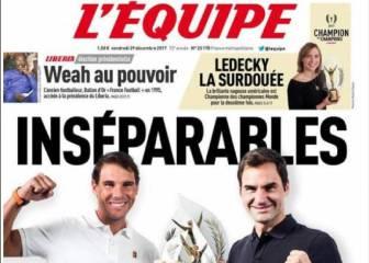 Rafa Nadal y Roger Federer, premio conjunto de L'Équipe