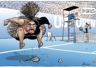"""Una caricatura sobre Serena Williams desata la polémica por """"racista y sexista"""""""