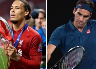 Van Dijk, estrella del Liverpool, se compara con Roger Federer