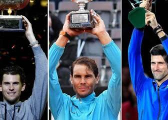 Djokovic, Nadal y Thiem están clasificados para unas ATP Finals que se jugarán sin público