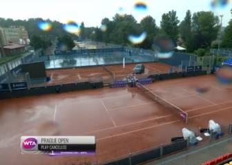 El partido de Sorribes contra Begu, aplazado por la lluvia