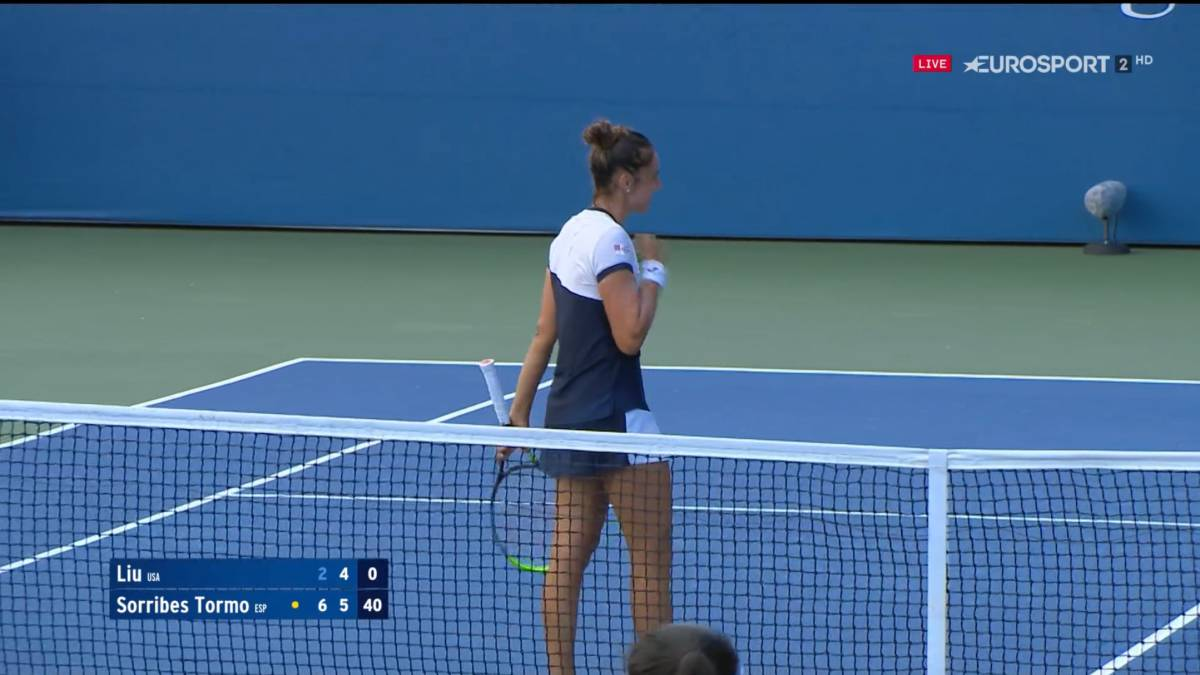 Sara-Sorribes-accurately-wins-her-first-US-Open-match