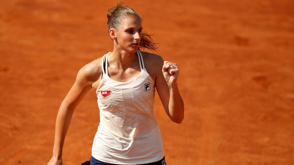 Karolina-Pliskova-does-not-give-in-defending-the-title-and-Halep-passes