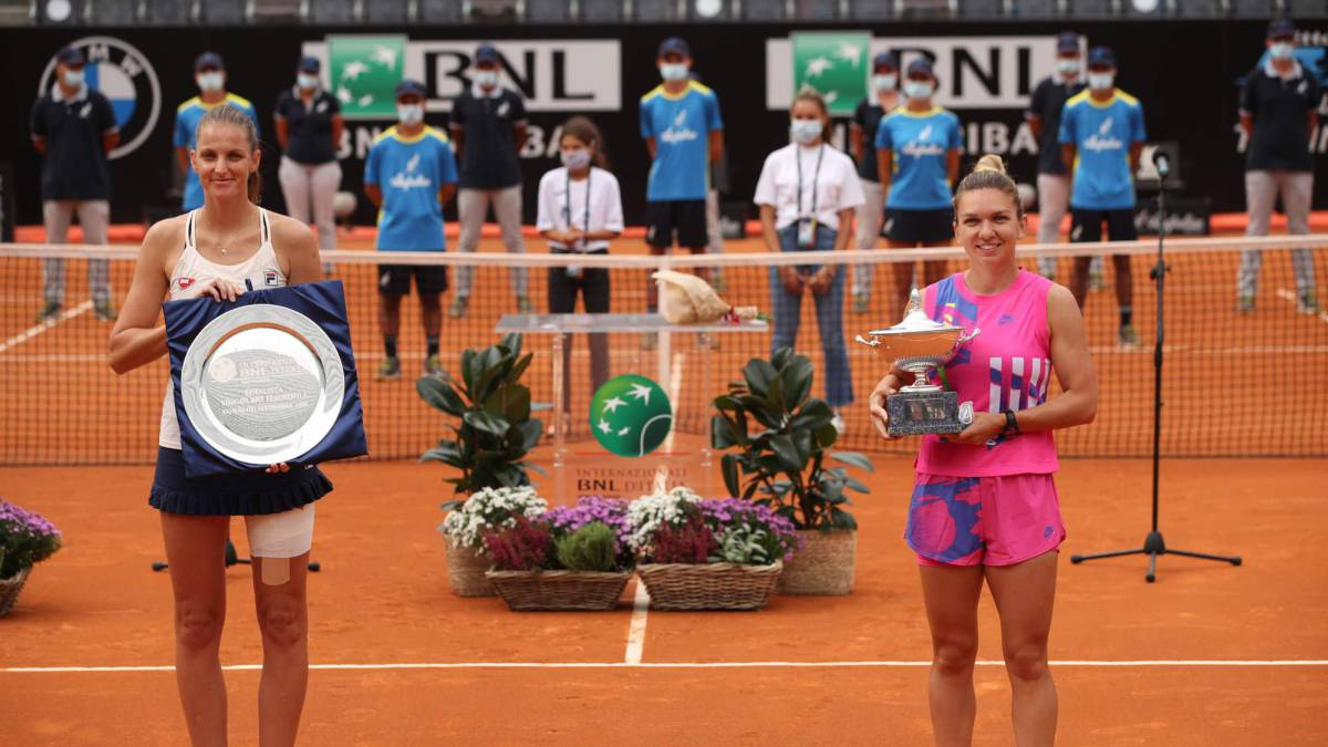 Halep-champion-in-Rome-due-to-Pliskova's-withdrawal