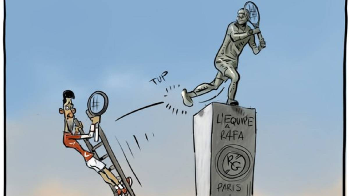 Nadal's-'statue'-on-stage