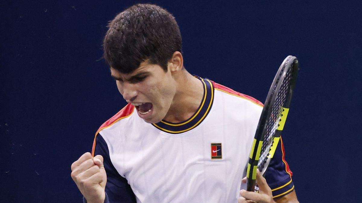 Alcaraz-improves-in-precocity-to-Nadal-Djokovic-and-Federer-in-victories-in-Grand-Slam