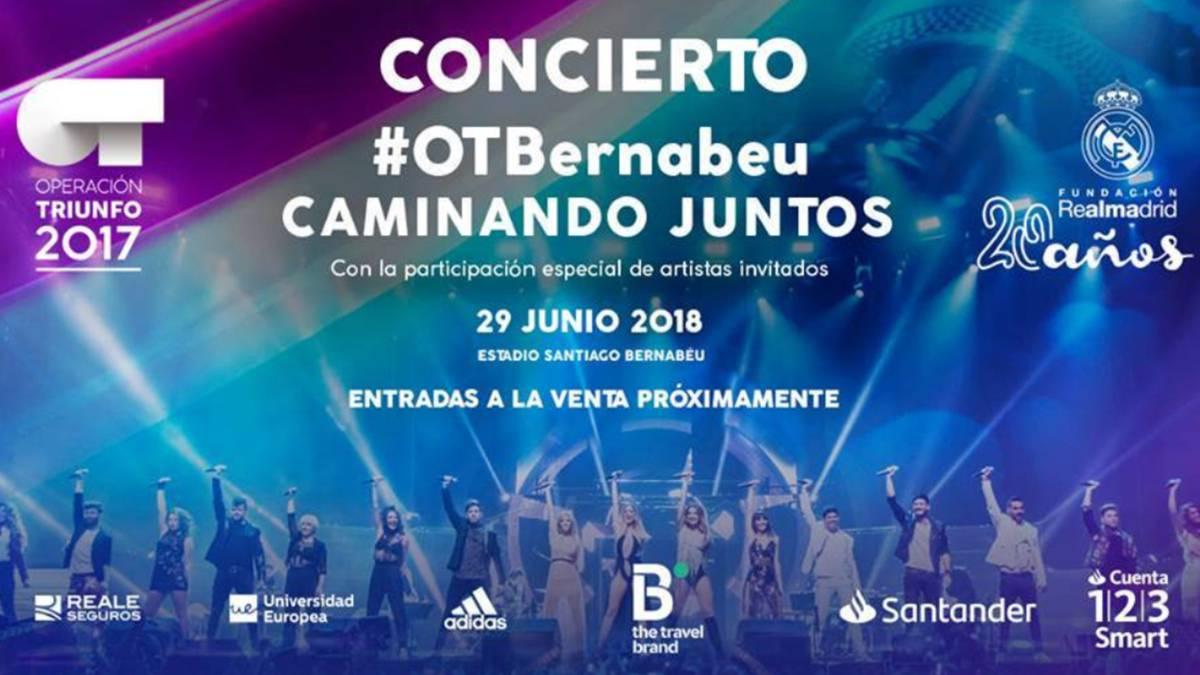 El concierto de ot2017 en el bernab u lanza su preventa y for Conciertos en santiago 2016