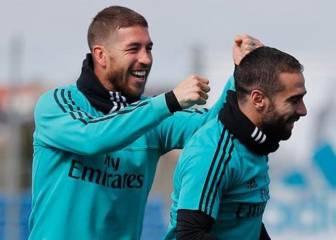 Sergio Ramos y Achraf se burlan de Carvajal por su foto en bañador