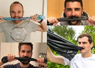 Nuevo ?Challenge? de los futbolistas: una bolsa de plástico en la boca