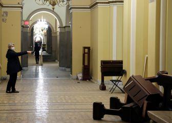 Así quedó el Capitolio tras el asalto