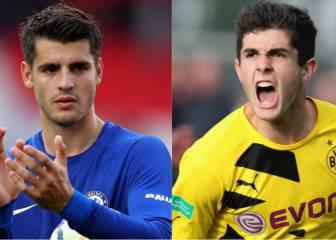 Chelsea ofrecería a Morata al Dortmund para obtener a Pulisic