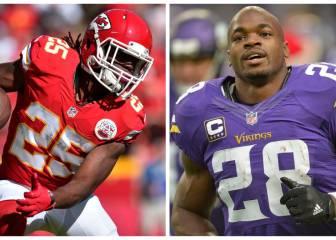 Redskins: ¿Adrian Peterson o Jamaal Charles?